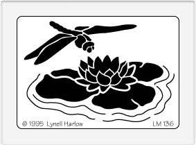 Dreamweaver Medium Metal Stencil Dragonfly Amp Lily Pad